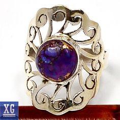 SR95843 Copper Purple Arizona Turquoise 925 Sterling Silver Ring Jewelry s 7 | eBay