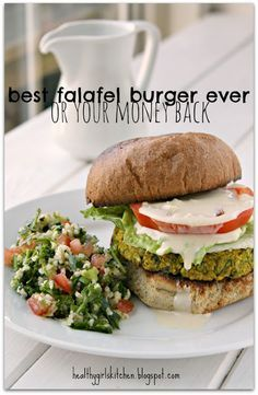 Un-fried Falafel Burgers *Garlic *Italian parsley *Cilantro *Scallions *Chickpeas *Oats *Lemon juice *Cumin *Turmeric *Coriander *Crushed red pepper flakes *Tahini