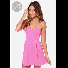 Lulu'S Hot Pink Mini Dress