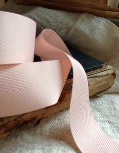 pink and white chevron ribbon by ShyMyrtle