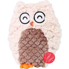 This nosy soft swirl owl is just the thing for the medium breed dogs.   Soft plush makes for easy pickup and lightly stuffed with crinkle paper.   Squeaker adds extra enjoyment.   Comes in assorted colors.  Size approx.: Size approx.: 9.5in.   Please note the picture shows the assorted colors, the price is for one toy    WaggMore recommends supervising your pet while he or she is playing with any toy.