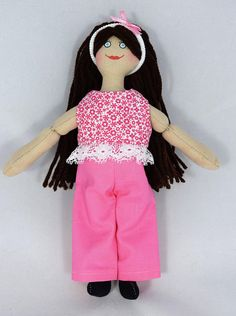 Brunette Doll in Pink  Toy Doll For Kids