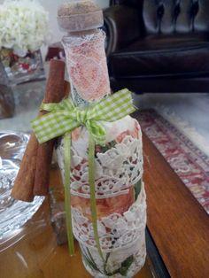 Handmade altered bottle