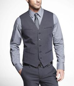 3 piece suit - express men  if i loose my butt, i wonder if i could pull this off...haha. but with a bow tie