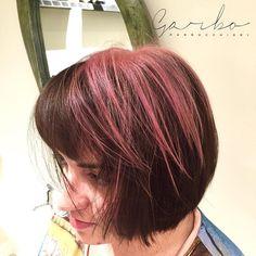 Samiiii.. Una carezza di rosa ! (CandyCoke Effect  GarboParrucchieri ) --- #garboparrucchieri #candycoke #marrone #rosa #brown #pink #colorbar #colore #lucentezza #capelli #effettocolore #sfumatureneicapelli #nuovocolore #nuovo #moda #tendenza #colorazione #instahair #gropellocairoli #garlasco #vigevano #pavia #milano