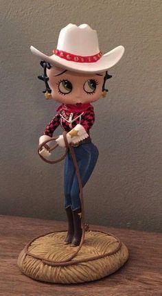Betty Boop Cowgirl Collector Figurine Danbury Mint CC Porcelain SN H833.