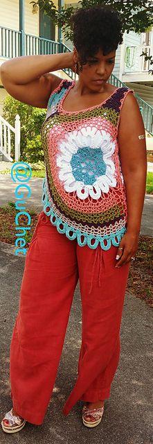Crochet Tank Top (Plus Size Crochet (S-4X) pattern