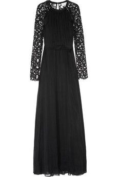 Temperley London Long Lily lace and silk-blend chiffon gown | THE OUTNET