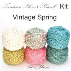 Tunisian Flower Shawl Kit_Vintage Spring_Btrix Yarns
