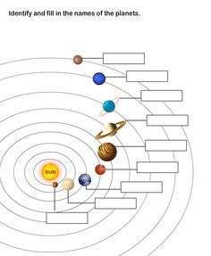 Solar System Worksheet 8  |  Learn About The Nine Planets in The Solar System