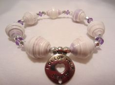 Unique one of a kind 7 paper bead bracelet by MargabeadaGirl, $20.00