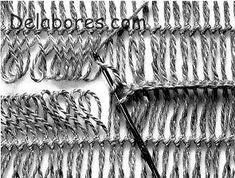 Como tricotar uniões em labores de crochê com forquilha - Innatia.com