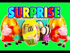 Surprise eggs open peppa pig