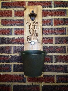 The Best Beer Is an Open Beer by NaturallyRustique on Etsy