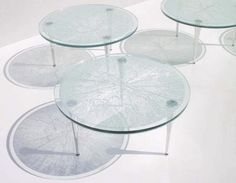 Coffee table / round / contemporary / glass - B-GLASS - B.lab Italia