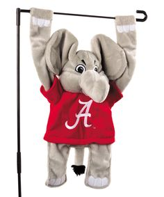 Look at this Alabama Crimson Tide 3-D Mascot Garden Flag on #zulily today!