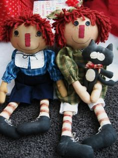Primitive Annie Raggedy Ann and Andy Doll by ButtercreekPrimitive