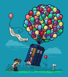 Come Along, Carl Art Print / Karen Hallion Illustrations - Society6 / Dr. Who / Pixar Up