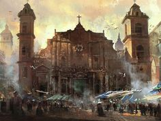 Assassin's Creed IV: Black Flag - Havana Cathedral concept art done for Assassin's Creed IV: Black Flag. All rights belong to Ubisoft. — by Donglu Yu for Assassin's Creed IV: Black Flag