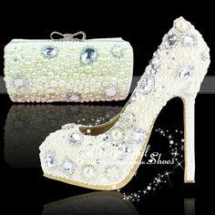 786206771a16ff ivory wedding shoes high heel platform pums by KissCrystalShoes · Crystal  ShoesIvory WeddingWedding ShoesClutch BagHigh ...
