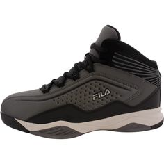 b9c6d6262123 Fila - Boys  Entrapment Basketball Shoe (Little Kid) - Castle Black Silver