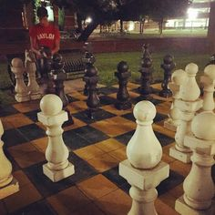 Did you know there's a giant chess board on the Baylor campus? Need to play!!