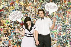 Photo booth: Use comic book pages as a backdrop, create a variety of phrases on signs (or let guests write their own!).