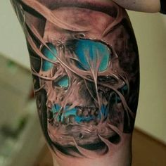 Awesome 3d Skull Tattoos