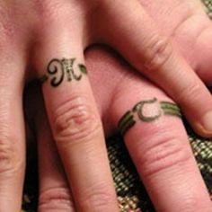 Ring Finger Tattoos For Couple