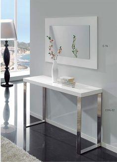 recibidor moderno de diseño, recibidores economicos, recibidores baratos, consolas para recibidor
