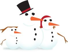 Awwww this Christmas u guys should head outside with he family and make ur very own snow man family