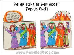 Peter Talks at Pentecost Pop-up Craft