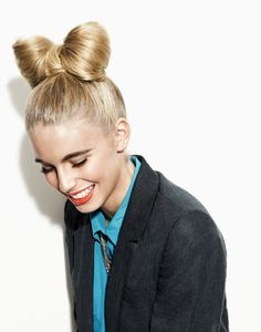 cute bow bun #hair