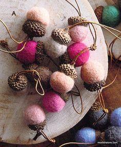 (A) Acorns Fabulous Pink, 24 acorns