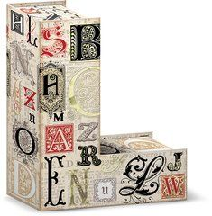 """Modern Impressions Decorative Letter """"L"""" Storage Box With Magnetic Closure"""