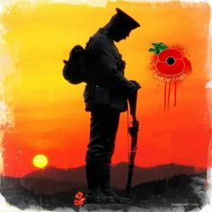 Lest we forget Remembrance Tattoos, Memorial Tattoos, Military Art, Military History, Military Diorama, Lest We Forget Tattoo, Soldier Silhouette, Remembrance Day Poppy, Armistice Day