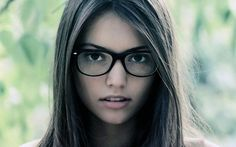 Girls wearing glasses