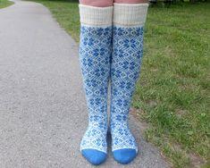Long Wool socks with Scandinavian Patterns. Scandinavian Pattern, Scandinavian Style, Womens Wool Socks, Warm Socks, Leg Warmers, Patterns, Knitting, Color, Etsy