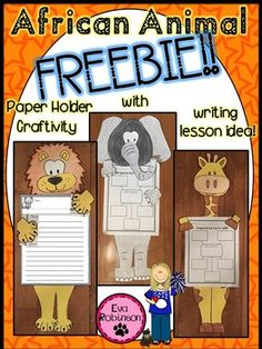 Lions and Elephants and Giraffes, Oh My! Hope you can use this craftivity and paragraph writing idea FREEBIE in your classroom. It comes from my Magic Tree House unit- Lions at Lunchtime by Mary Pope Osborne.Let me know what you think and visit my TPT store for more Magic Tree House units and FREEBIES!Eva