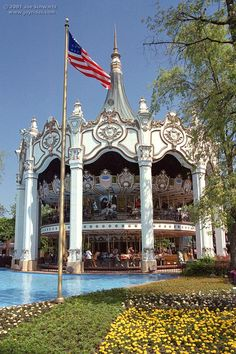 A Classic - Double Decker Carousel - Six Flags Great America. I rode on this amazing carousel as a little girl and never forgot it. Looking at this photo brings back great memories ♥