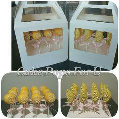 Lemon inspired cake pops for a lemonade party.