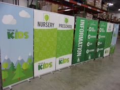 TreeLine Church made these awesome economy banners to match their church theme! Ministry Ideas, Youth Ministry, Youth Group Games, Retractable Banner, Church Banners, Banner Stands, Church Design, Church Ideas, Small Groups