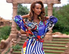 Iman slaying the game in the 90s. Timeless.