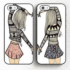 This is a beautiful set of 2 phone cases. Could be given as an amazing gift