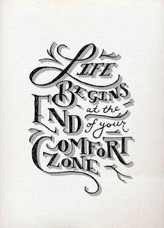 Life begins at the end of your comfort zone. #AdventureDivas #EstrogenArmy #SoulPepper