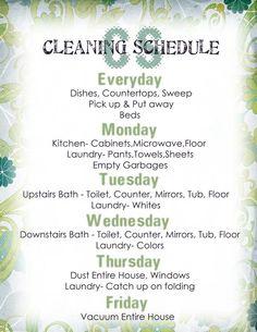 How To Keep My House Clean complete housekeeping printable set! | housekeeping schedule