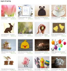 Curated by HelenMPhotography on Etsy.  Etsy treasuries.  Mouse & Moose.  100% wool Easter themed finger puppets.  Rabbit, bunny, chick, egg finger puppets.