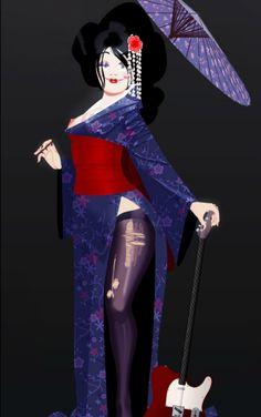 Arthur de Pins   curvy geisha - plus size pin up