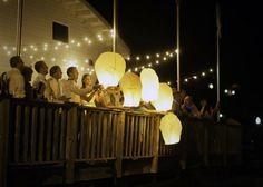 Bayfield, Wisconsin Wedding. Paper Lanterns