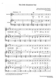little drummer boy free piano sheet music pdf